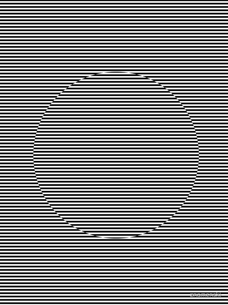 Optical art: flat parallel stripes create a moving circle by znamenski