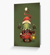 Happy Cthulhu Greeting Card