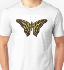 """Butterfly species Graphium agamemnon """"Tailed Jay"""" T-Shirt"""