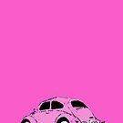 pink car by davepockett