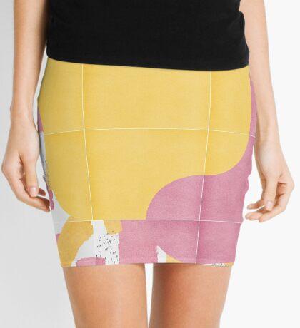 Bold Painted Tiles 03 #redbubble #midmod Mini Skirt