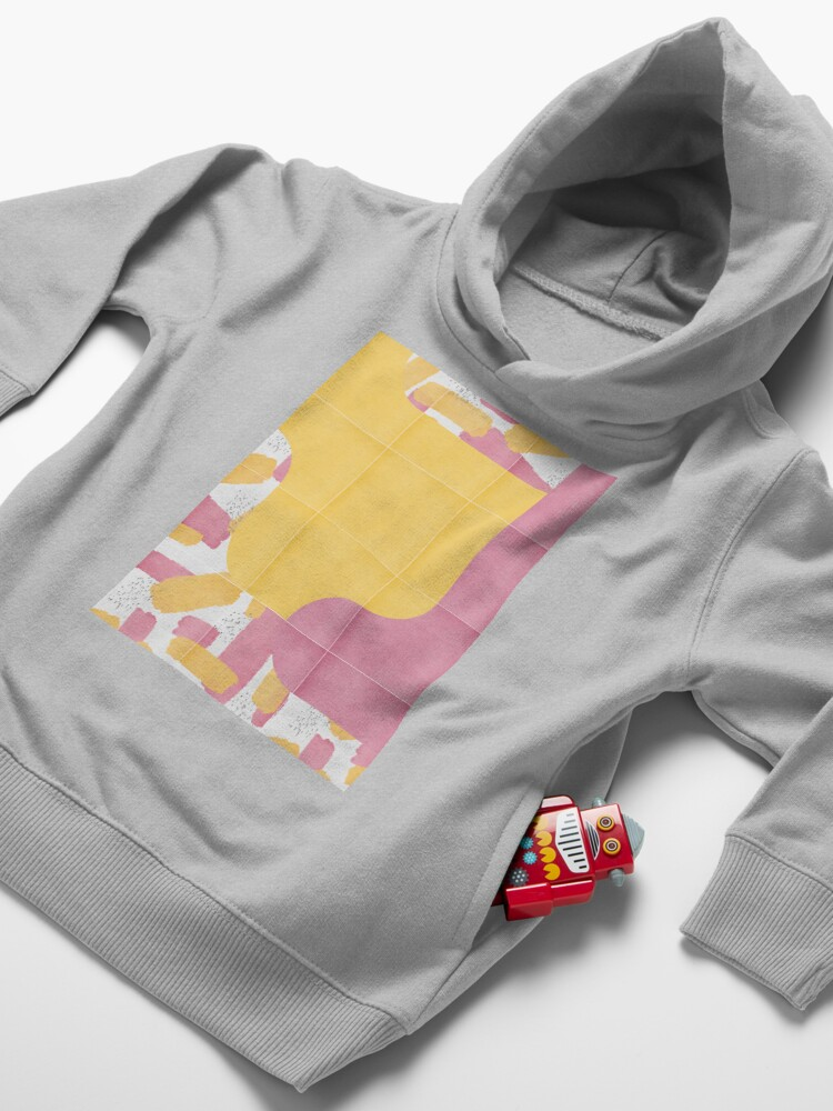 Alternate view of Bold Painted Tiles 03 #redbubble #midmod Toddler Pullover Hoodie