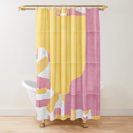 Bold Painted Tiles 03 #redbubble #midmod Shower Curtain