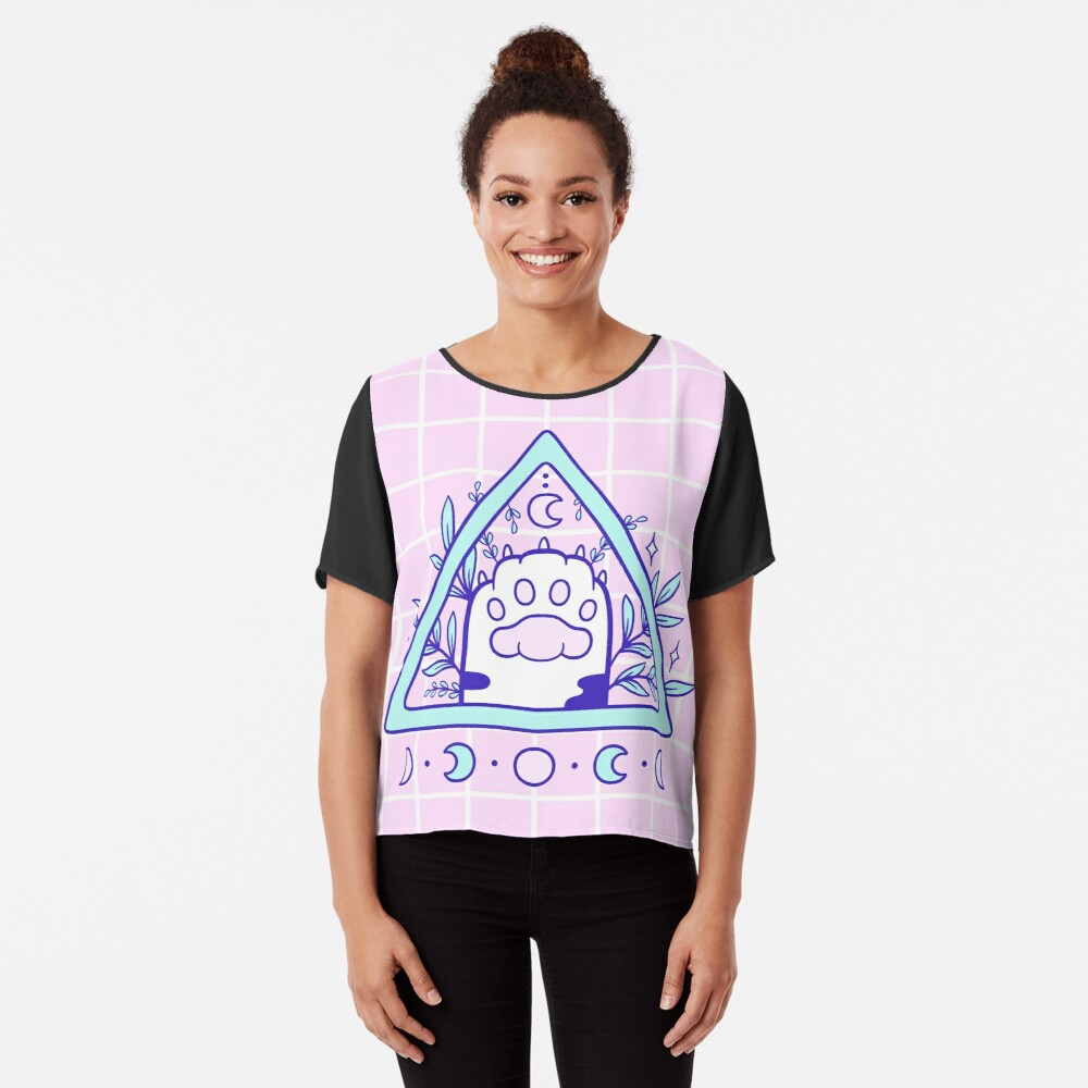 Witchy Cat Paw 03 Chiffon Top