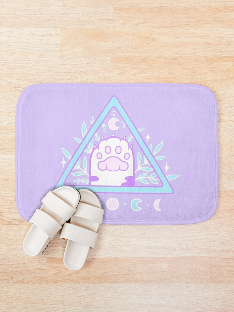 Alternate view of Witchy Cat Paw 01 Bath Mat