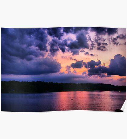 Sunset at The Lake Poster