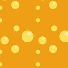 Yellow Beer Bubbles Pattern by isstgeschichte