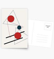 Abstrakte Geometrie #geometrisch #illustration #kunst Postkarten