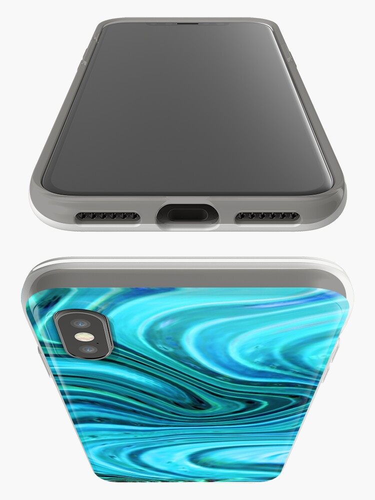 Alternate view of Marbled Turquoise and teal watercolor art iPhone Cases & Covers