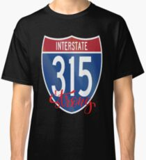 Camiseta clásica Interestatal 315 I-315 15 Negocio fuerte Sistema de autopistas interestatales en Great Falls Montana