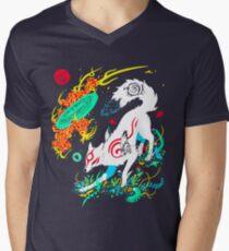 Kami of the Rising Sun  Men's V-Neck T-Shirt