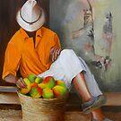 Manuel the Fruit Vendor Resting by Dominica Alcantara