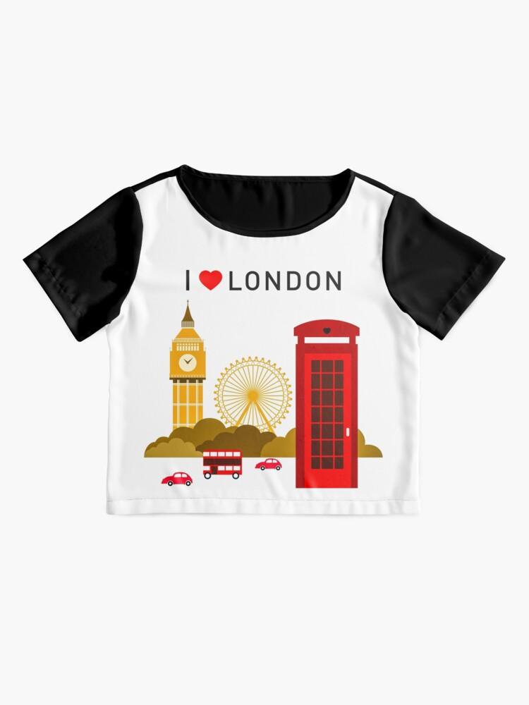 Alternative Ansicht von Ich liebe London Chiffon Top