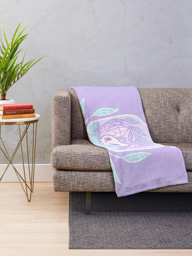 Alternate view of Pastel Terrarium Throw Blanket