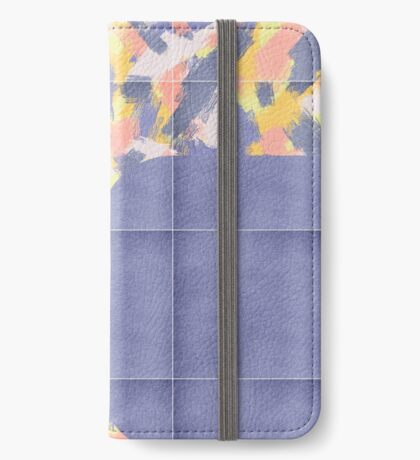 Messy Painted Tiles 01 #redbubble #midmod iPhone Wallet