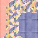 Messy Painted Tiles 01 #redbubble #midmod by designdn