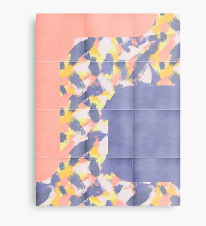 Messy Painted Tiles 01 #redbubble #midmod Metal Print
