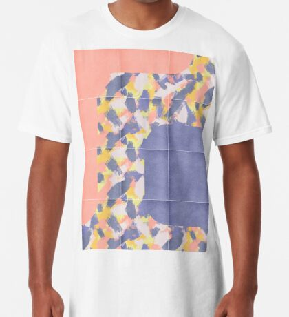 Messy Painted Tiles 01 #redbubble #midmod Long T-Shirt