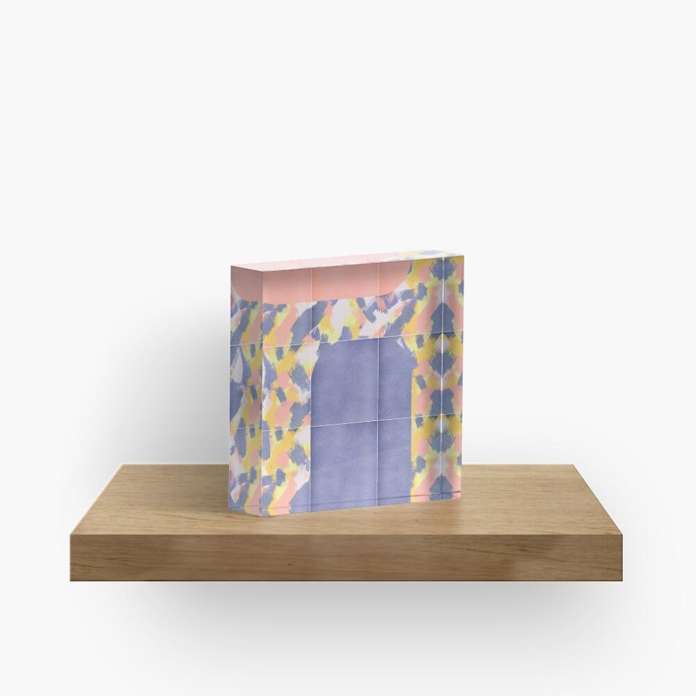 Messy Painted Tiles 02 #redbubble #midmod Acrylic Block