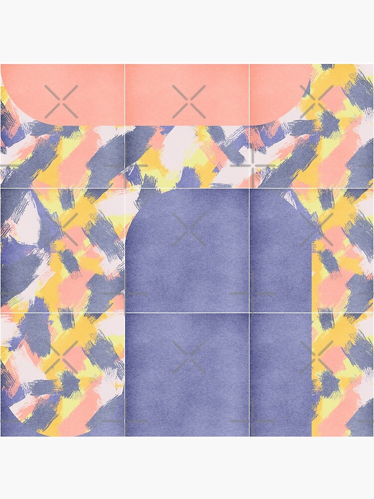 Messy Painted Tiles 02 #redbubble #midmod by designdn