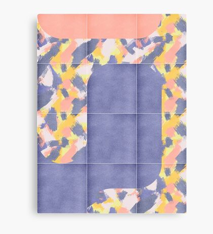 Messy Painted Tiles 02 #redbubble #midmod Canvas Print