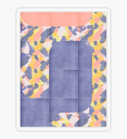 Messy Painted Tiles 02 #redbubble #midmod Transparent Sticker
