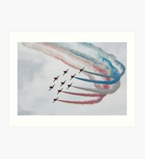 Red Arrows in Formation Art Print