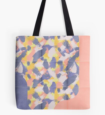 Messy Painted Tiles 03 #redbubble #midmod Tote Bag