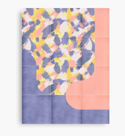 Messy Painted Tiles 03 #redbubble #midmod Canvas Print