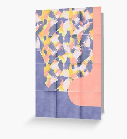 Messy Painted Tiles 03 #redbubble #midmod Greeting Card