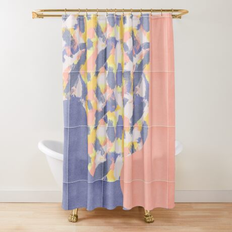 Messy Painted Tiles 03 #redbubble #midmod Shower Curtain