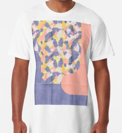 Messy Painted Tiles 03 #redbubble #midmod Long T-Shirt