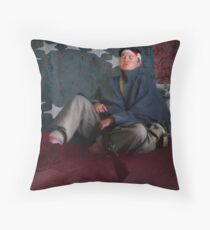 Exhausted at the Fort Throw Pillow
