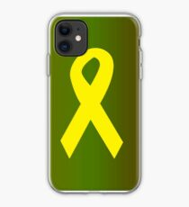Yellow Ribbon with Camouflage iPhone Case