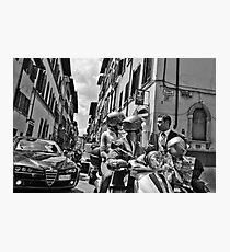 Italian Street Scene Photographic Print