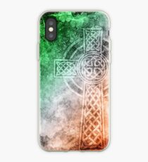 Distressed Irish Celtic Cross iPhone Case