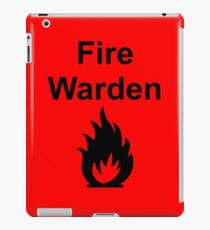 Fire Warden by Exit Incorporated iPad Case/Skin
