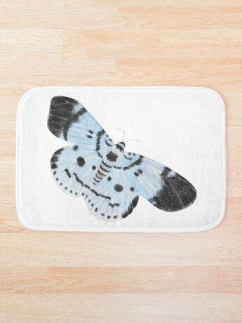 Blue Tiger Moth Bath Mat