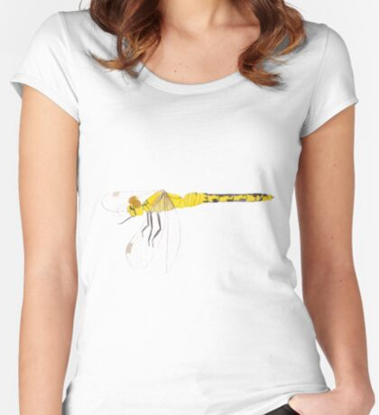 Yellow Dragonfly Fitted Scoop T-Shirt