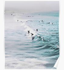 California beach, Ocean, Coast, Beach, Surfing, Water Poster