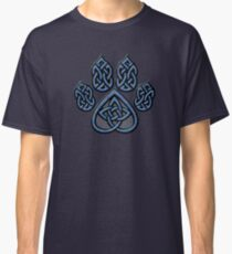 Celtic Knot Pawprint - Blue Classic T-Shirt
