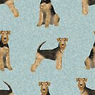 Airedale Dog bedding, airedale terrier pattern, airedale terrier mug, airedale terrier leggings, airedale mug, airedale decor, airedale lover, aireadle gift by PetFriendly