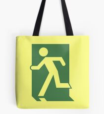 Emergency Exit Sign, with the Running Man Tote Bag