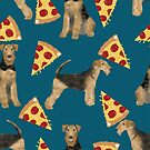 airedales and pizza, airedale terrier pattern, airedale terrier pizza, aiedale terrier design, airedale bedding, airedale pattern, airedale dog, airedale mug, airedale lover by PetFriendly