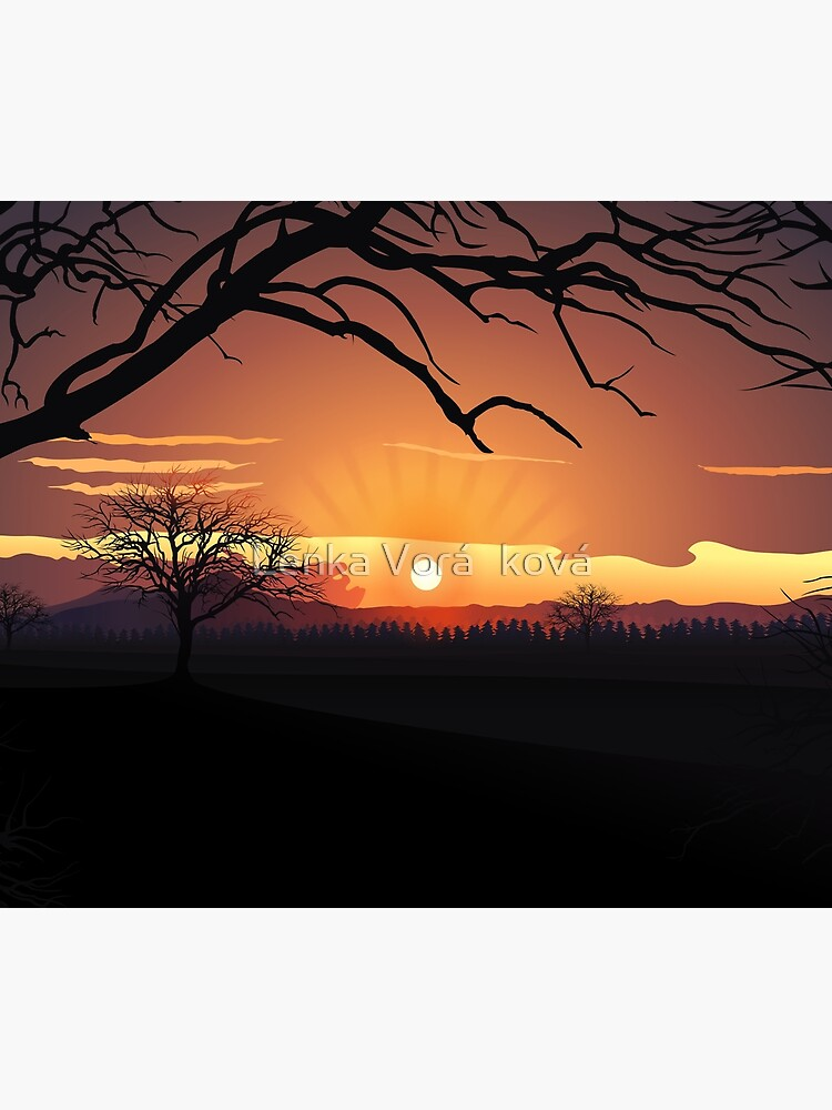 Sunset landscape layers by Trin4ever