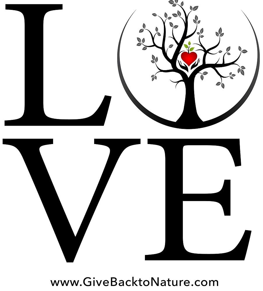 Love Logo - Give Back to Natu by Patrick Di Fruscia