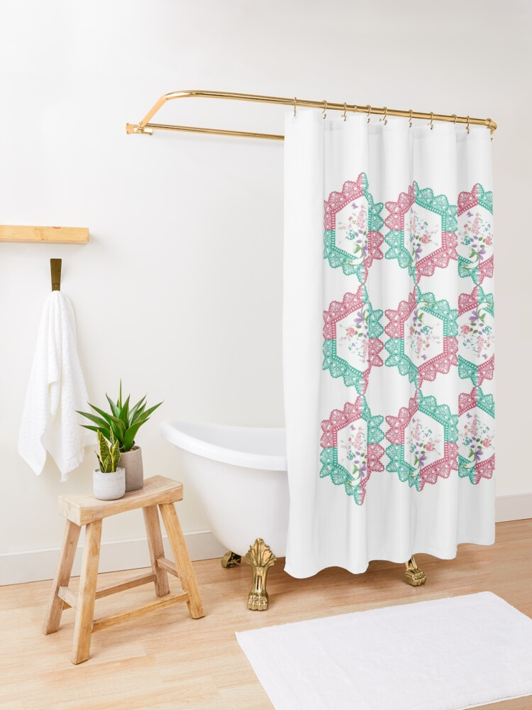 Alternate view of Embroidery, Motif, Visual arts Shower Curtain