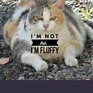 "Fluffy cat, ""I'm not fat I'm fluffy"" by M. I. Speer"