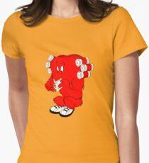 Gossamer reading  full color geek funny nerd Women's Fitted T-Shirt