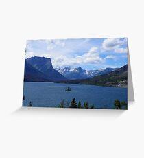 Lake St Mary & Wild Goose Island Greeting Card